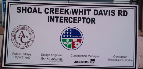 Shoal Creek, Custom Signs in Buford, GA